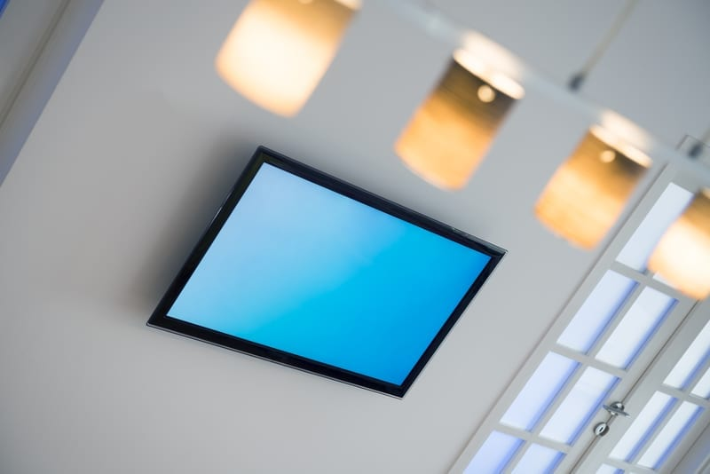 Ceiling TV at West Richland Family Dental
